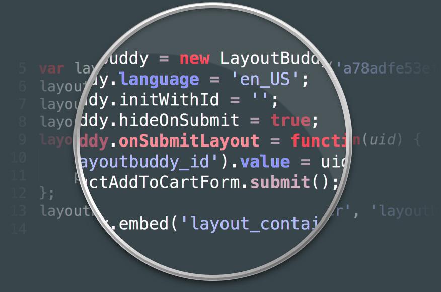 LayoutBuddy web to print integration